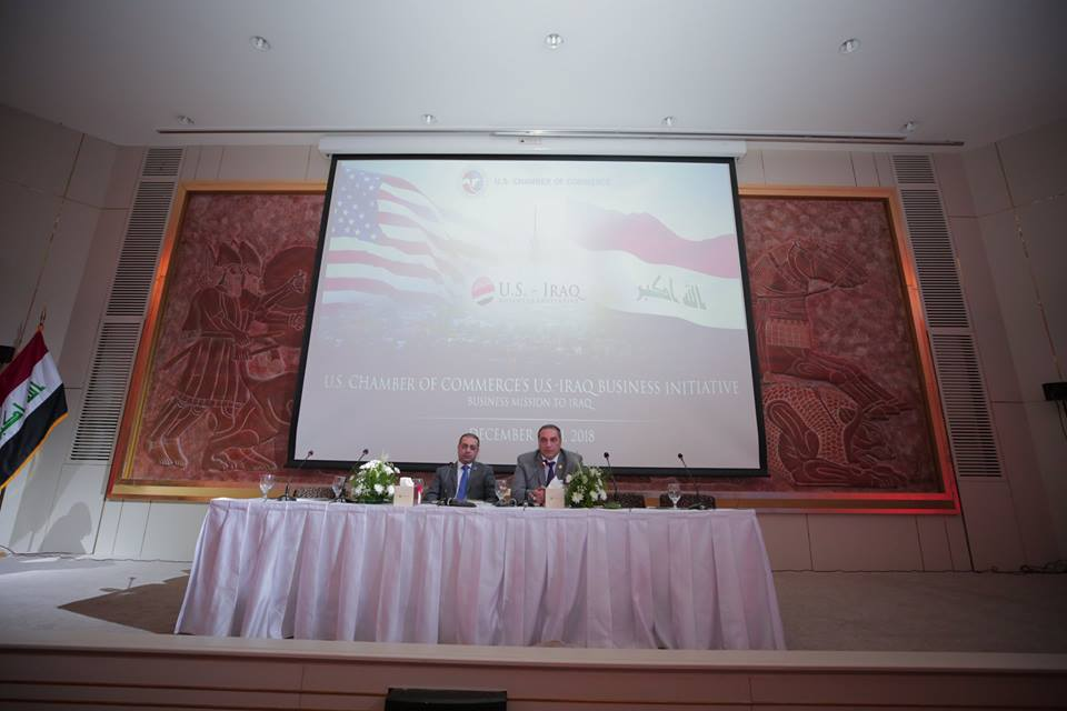 Iraq is looking for investment opportunities and boosting trade with America US.Chamber-IRAQ_05