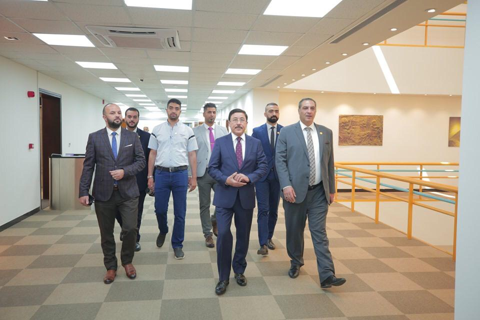 HE the Governor of the Central Bank of Iraq, Dr. Ali Al-Aalak, visited the building of the new public administration of the Iraqi Bank for Trade (TBI) CBI-Head_01
