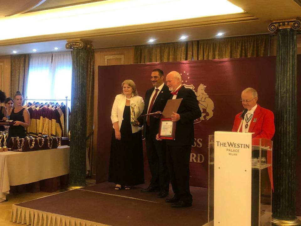 The Iraqi Trade Bank wins a prestigious award at the 2019 World Achievement Forum in Milan Milan-Italy_2-July-2019_01